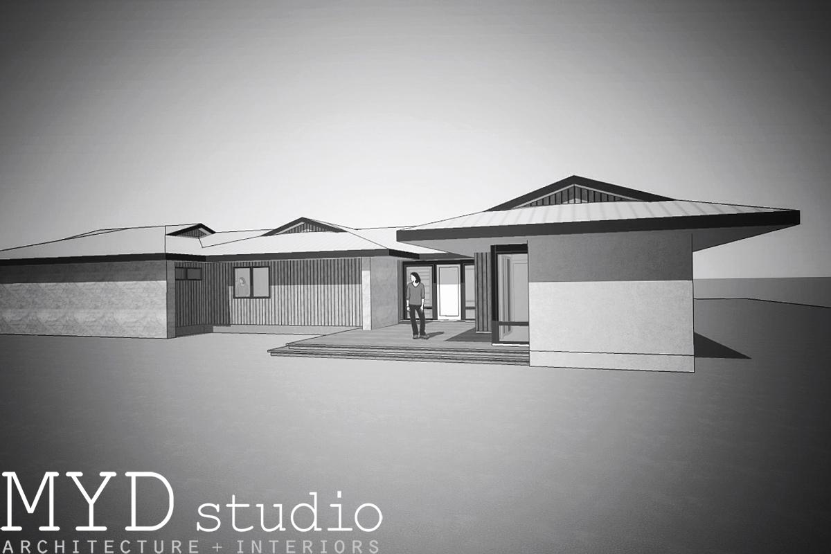 residential design concept / modern entry
