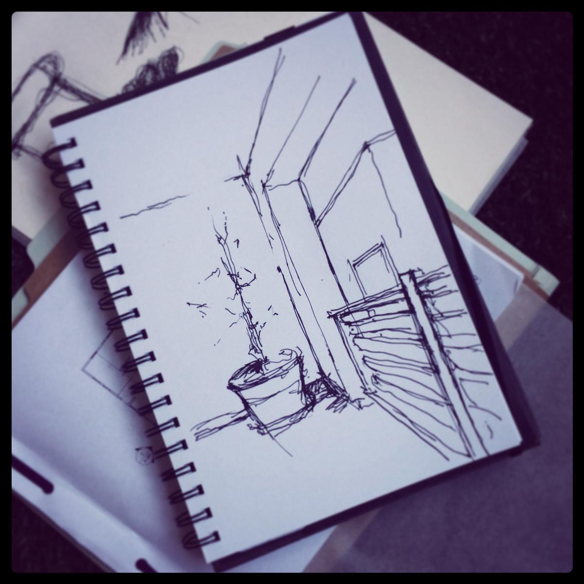 sketch   / pen + ink
