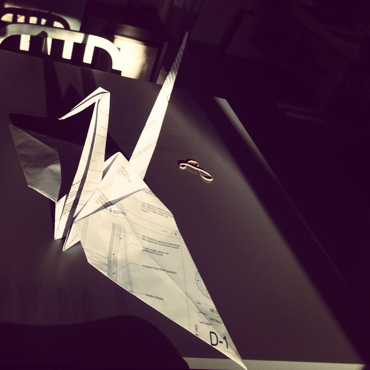 detail sheet origami   / myd studio