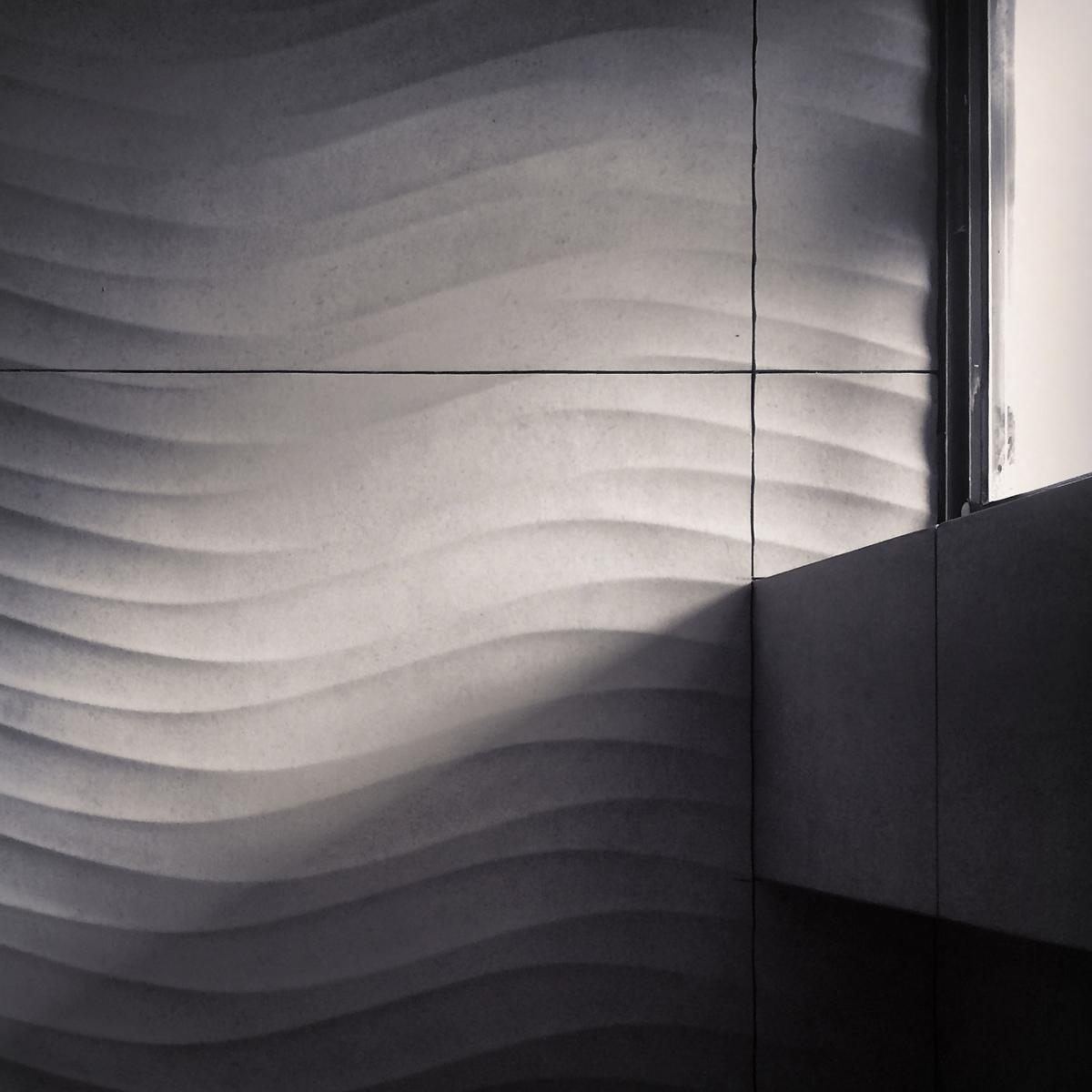 modern details  / dimensional tile installation