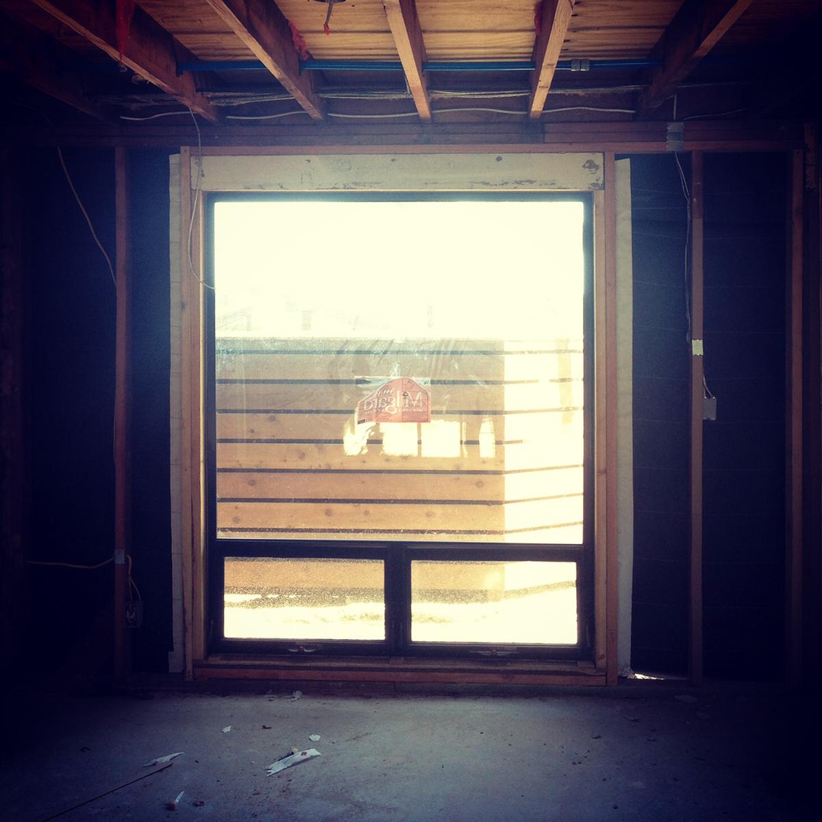 mid-century remodel  / framing at window