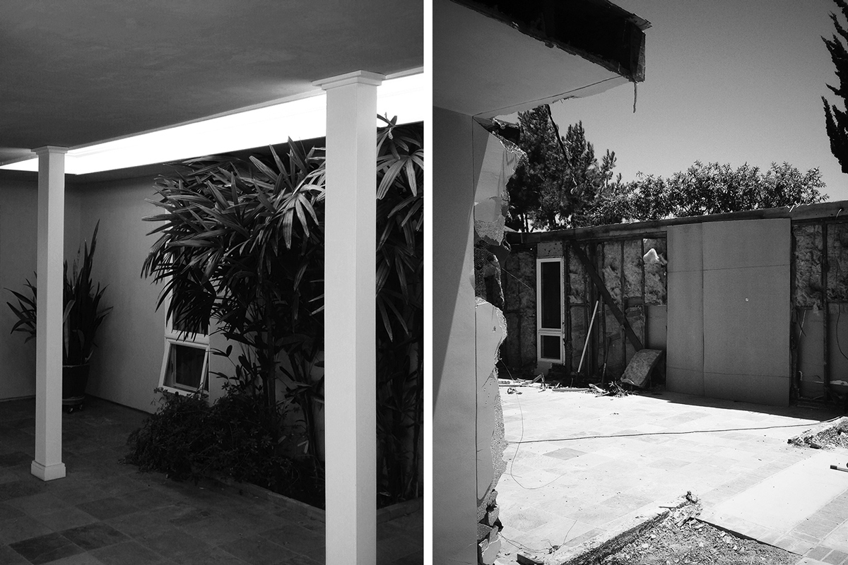 existing courtyard / demolition
