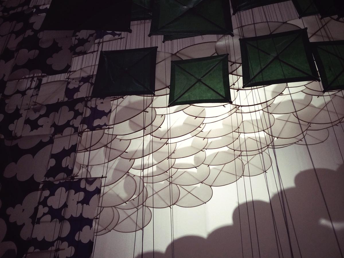 suspended kite detail