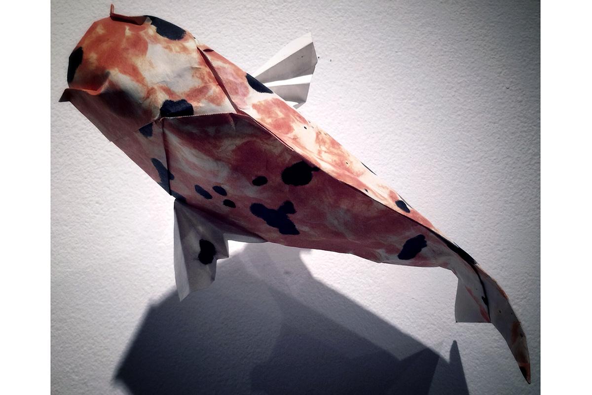 origami koi fish detail