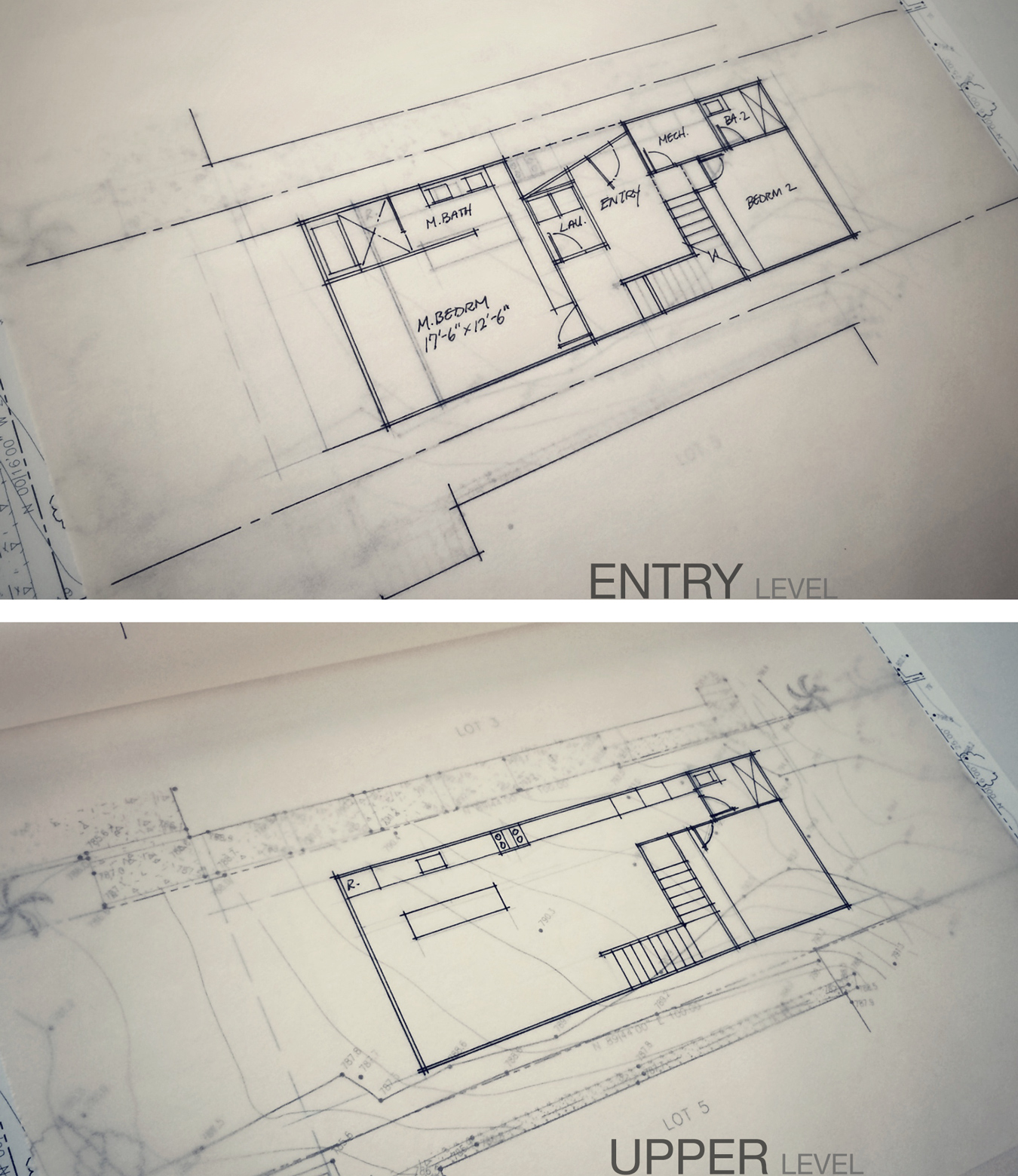 schematic floor plans / arch beach heights