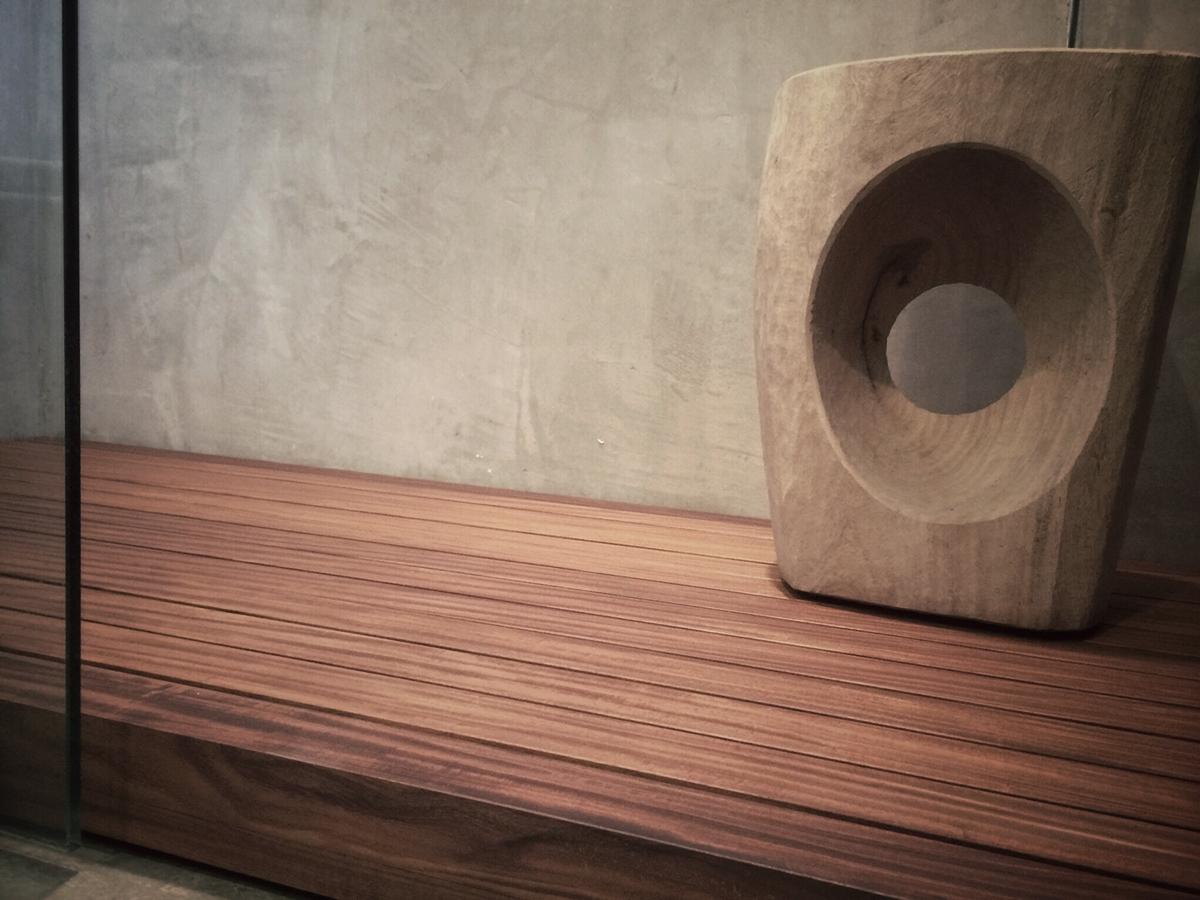 custom teak shower floor slats