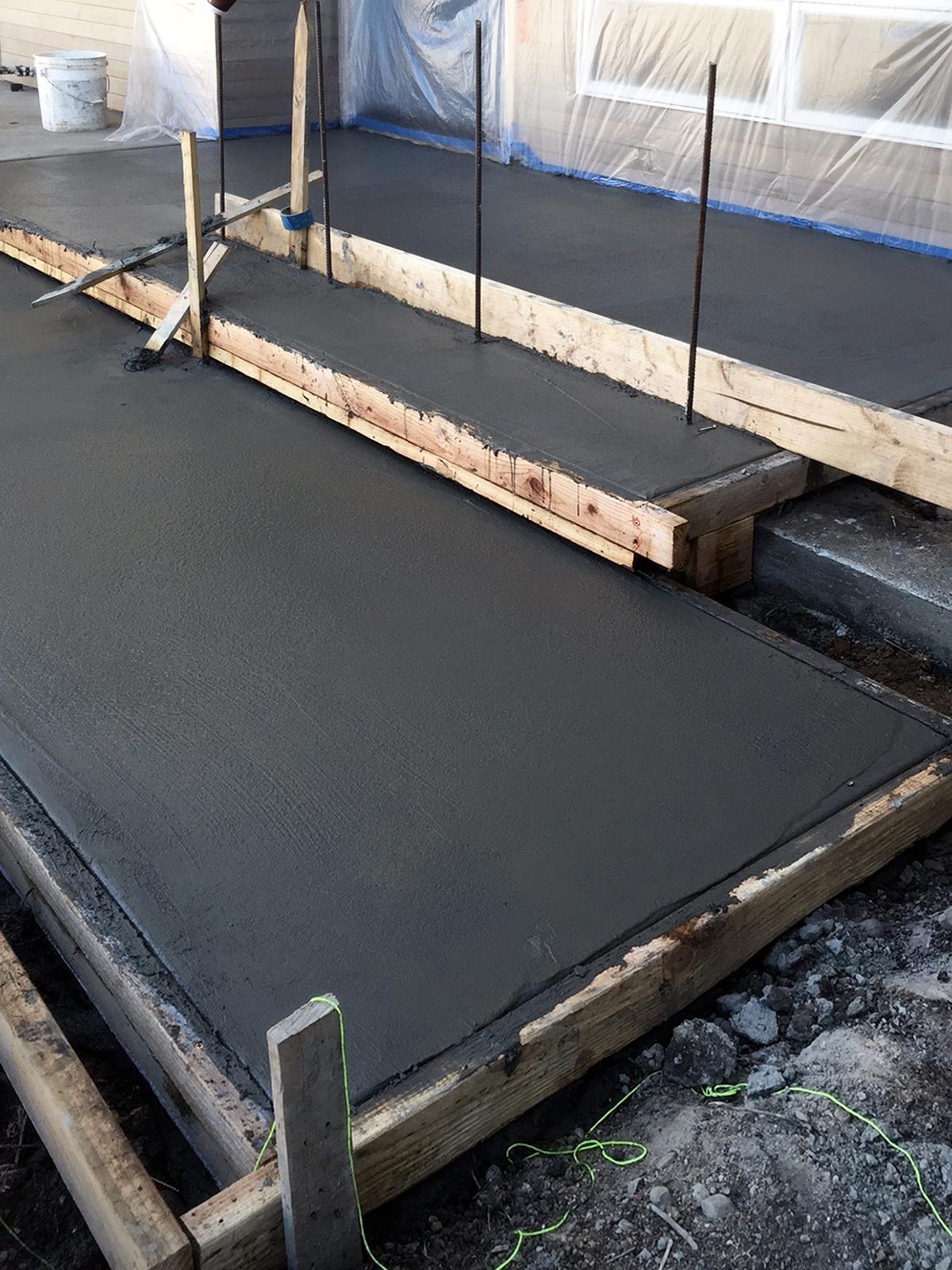 concrete pour