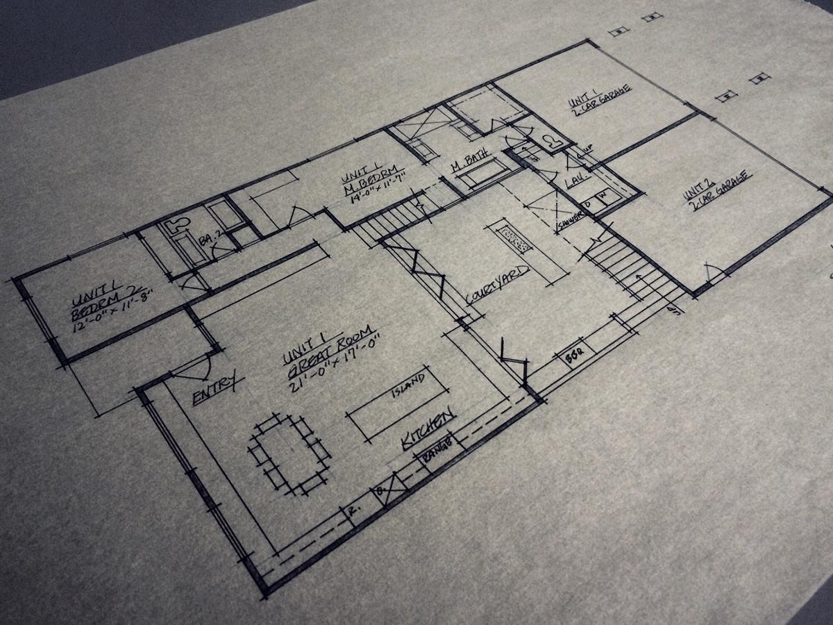 schematic floor plan // level 1