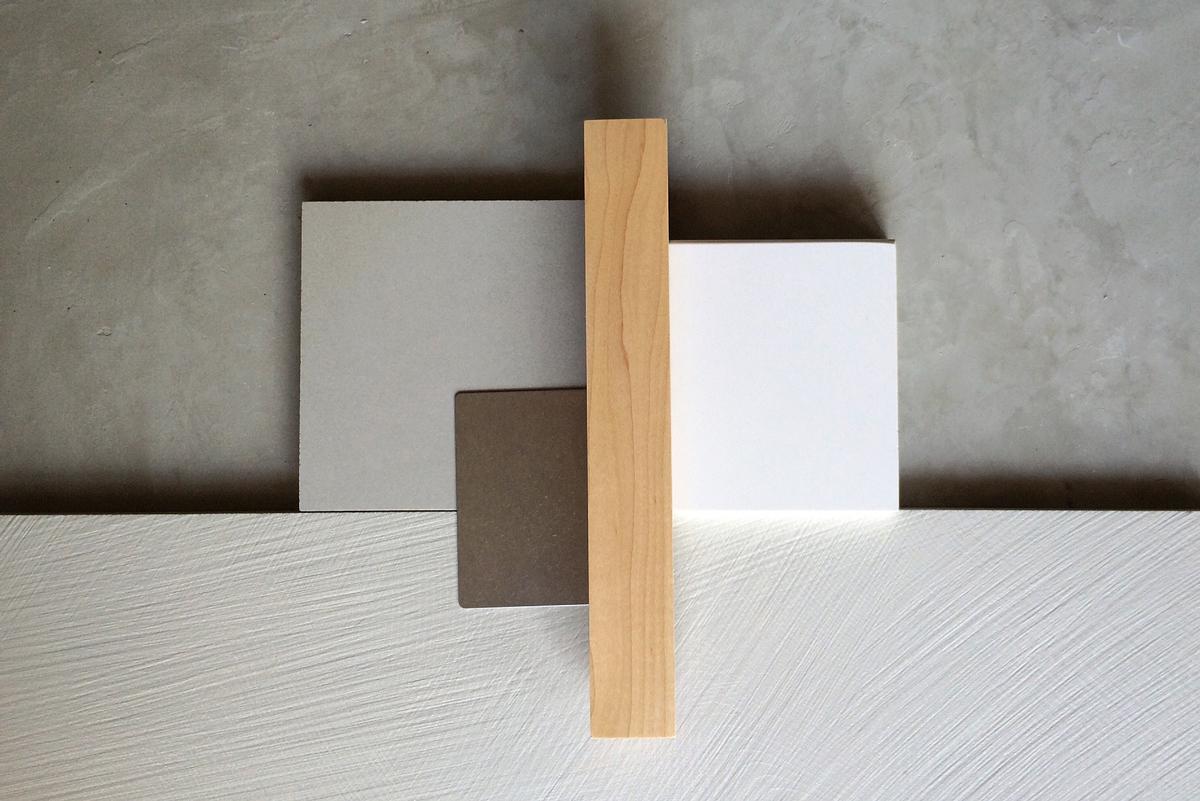 concrete, large-format wall tile, maple  //  jerome st, villa park
