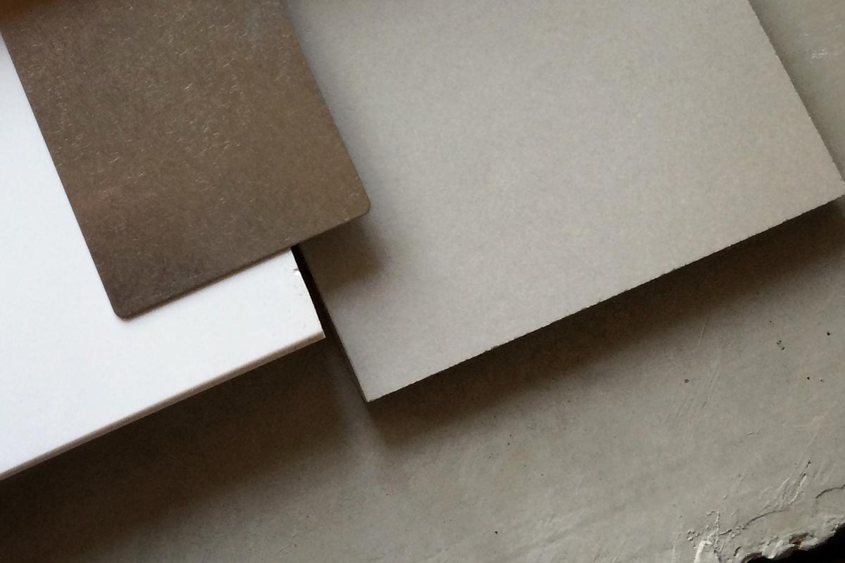 concrete, porcelain flooring, krion solid surface  //  jerome st, villa park