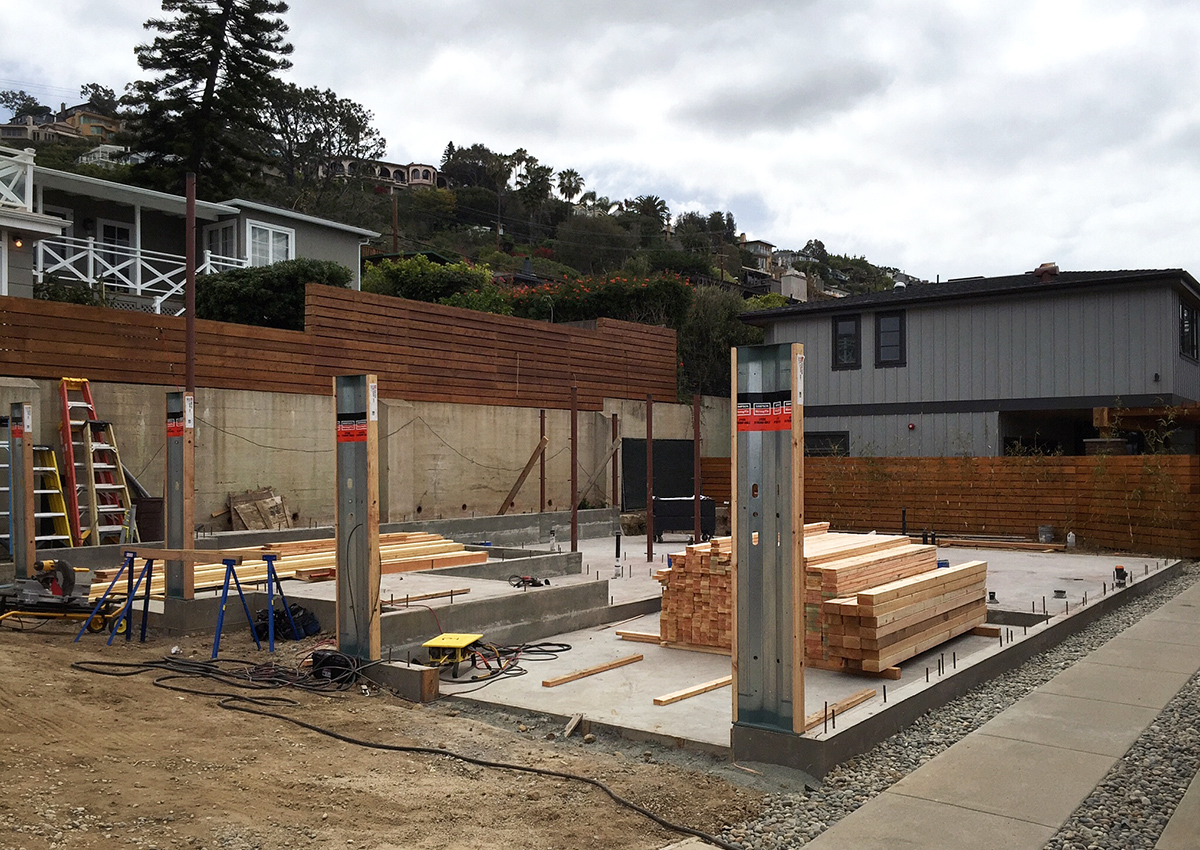 Woods Cove Construction, Laguna Beach // concrete foundation