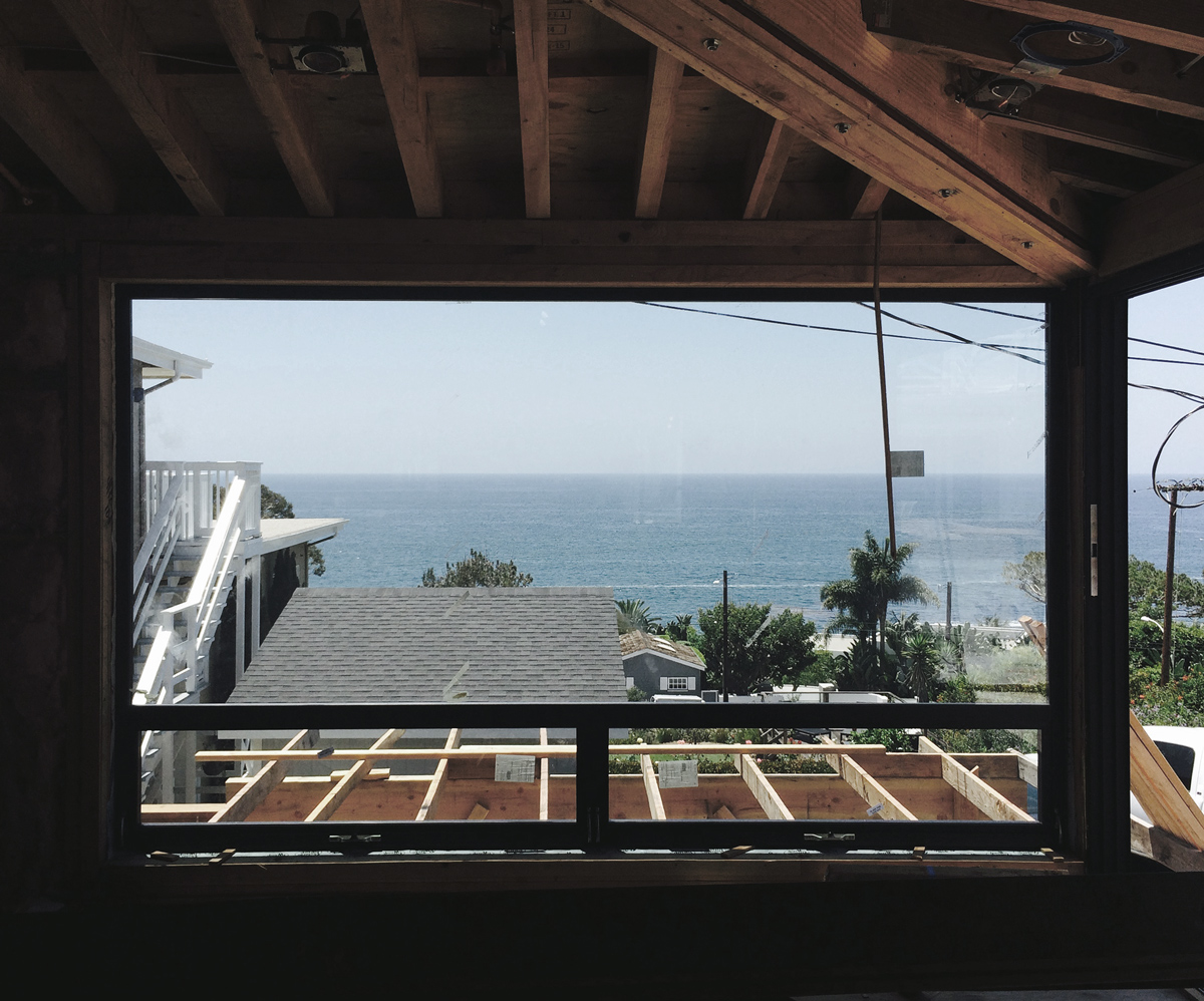 fern street cottage views / under construction in laguna beach