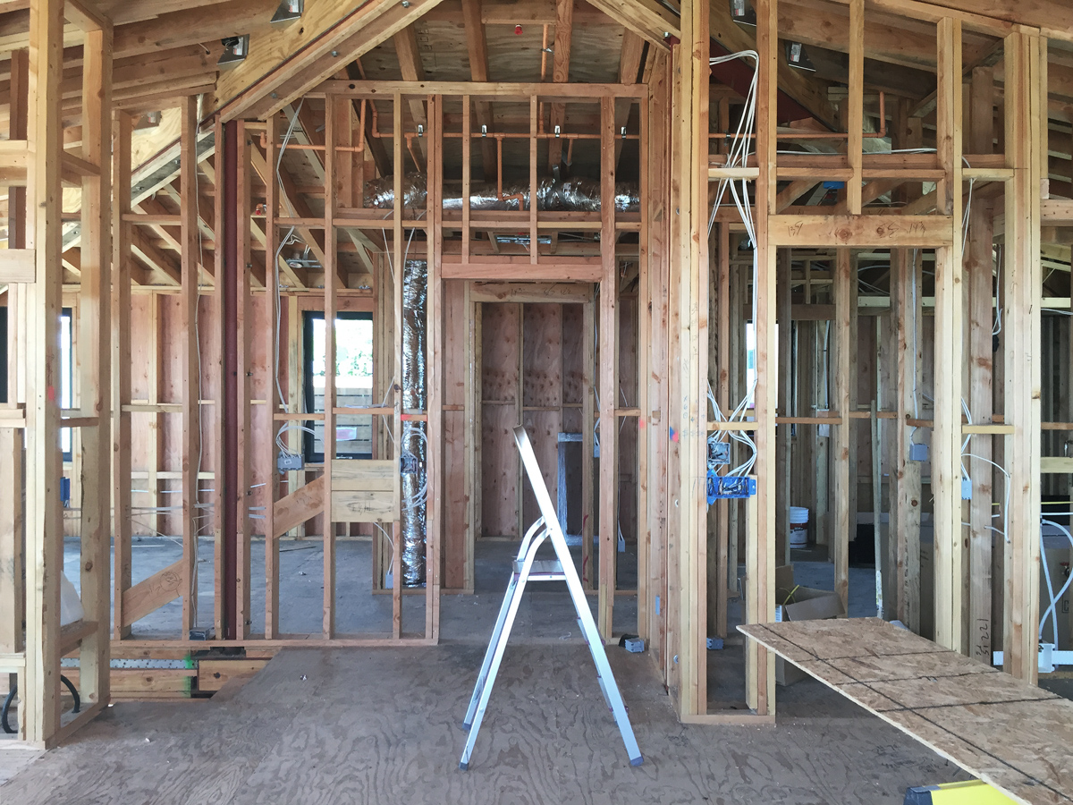 view towards stair + master suite