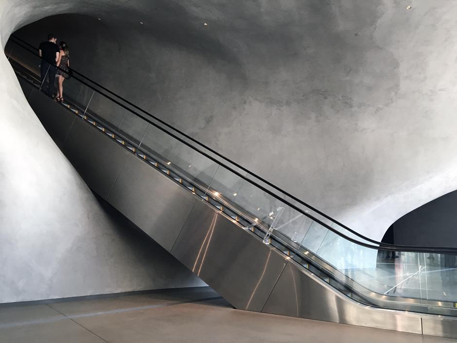 escalator into the vault