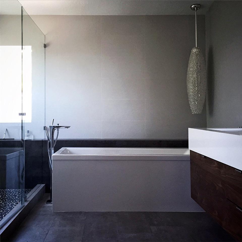 black, white + modern: a renovation in orange