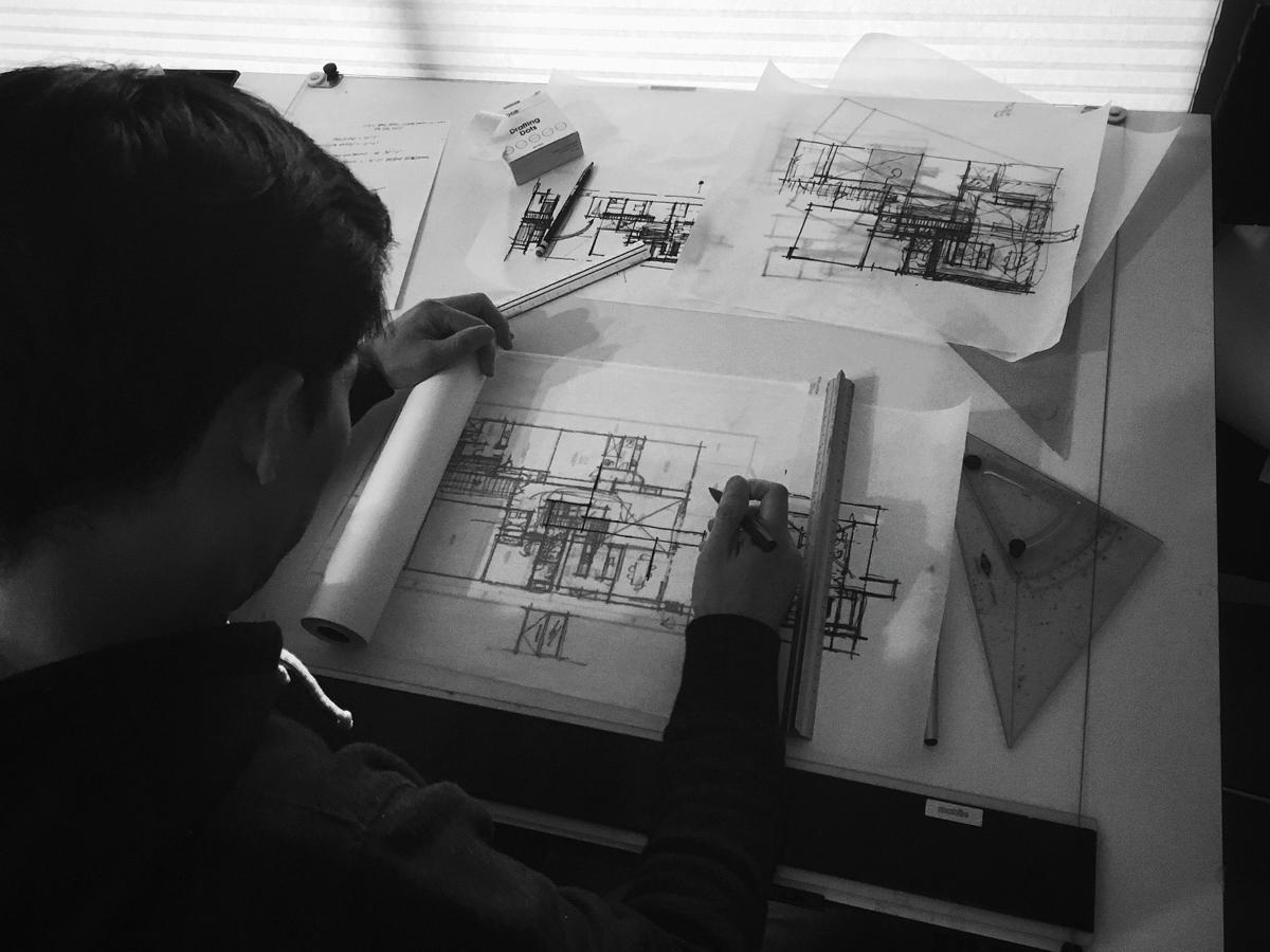 schematic design / huntington harbor midcentury
