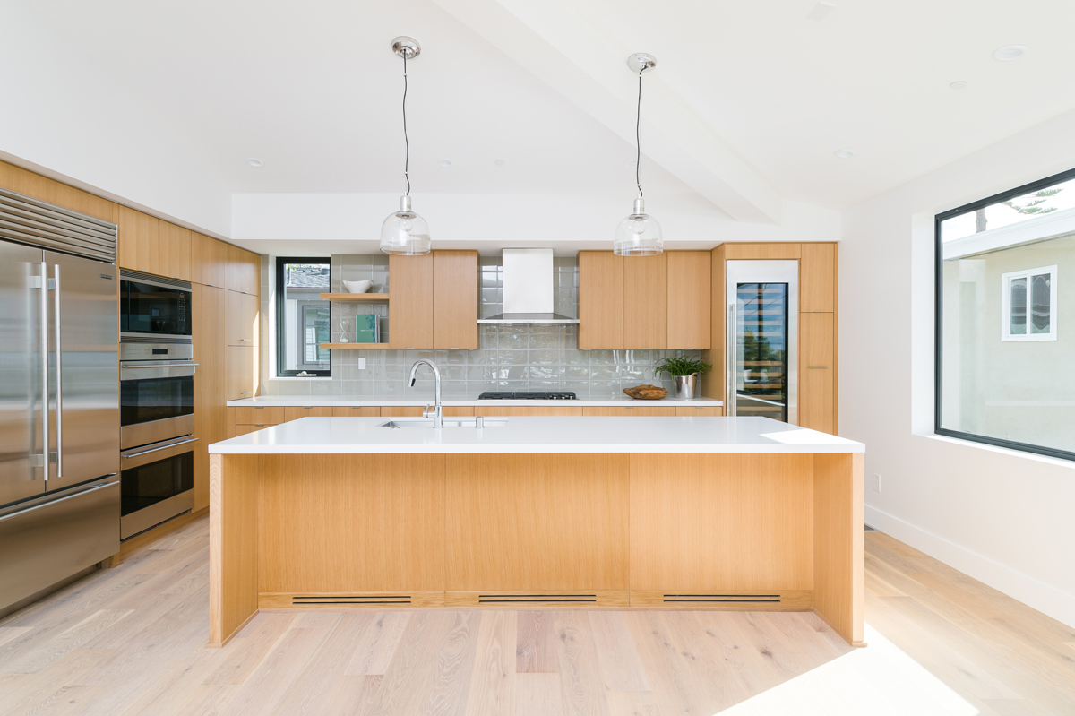 open kitchen at great room interior