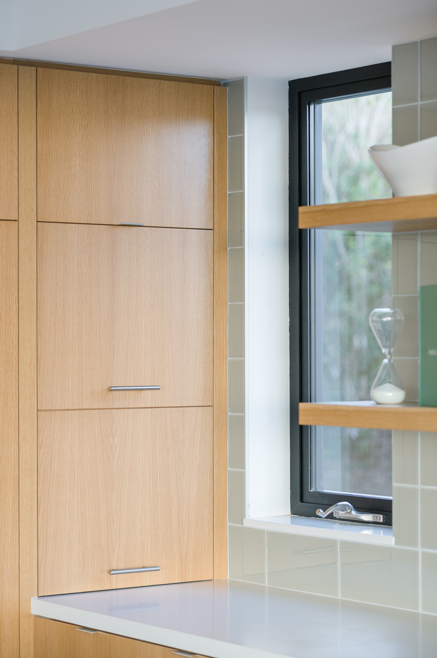 custom cabinetry at kitchen window