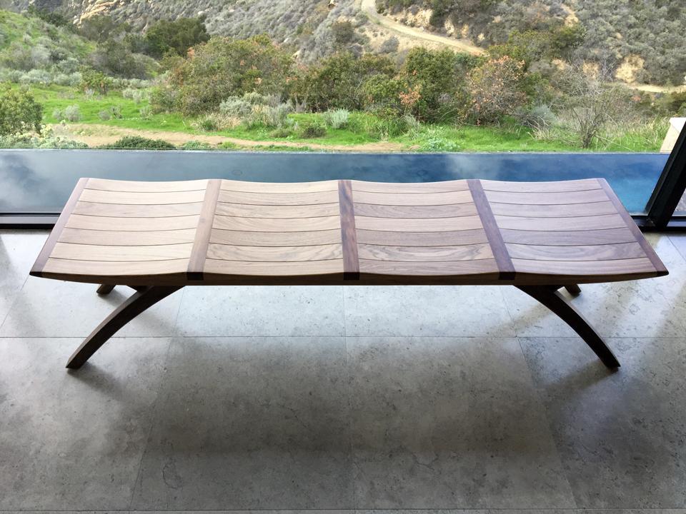 ylla bench / laguna beach contemporary interior by myd studio