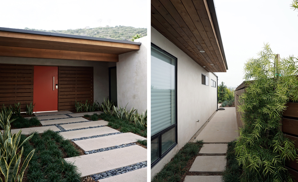 interior courtyard // landscape at sideyard