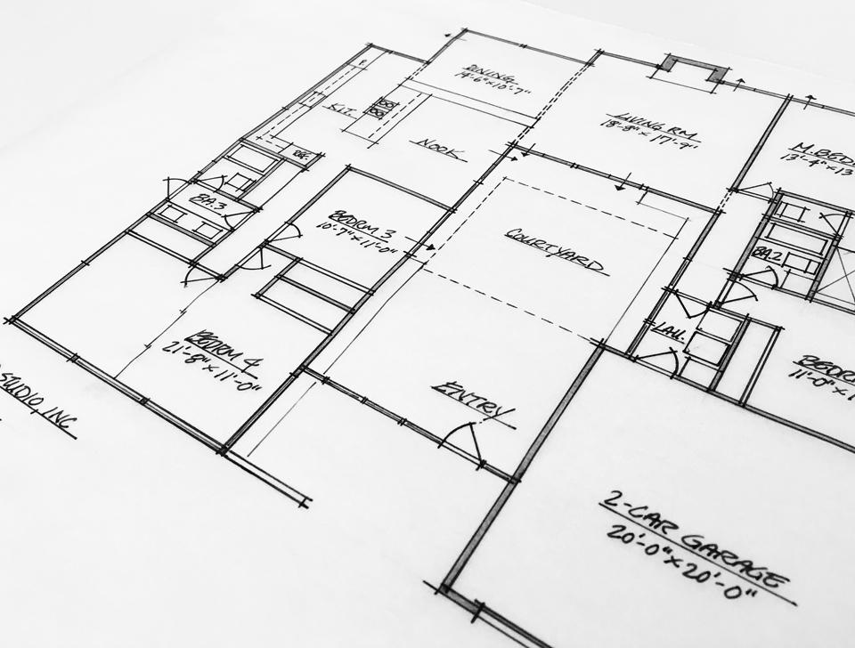 schematic floor plan / fairhills eichler