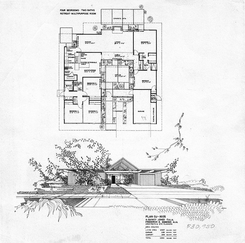 eichler plan oj-1605 / fairhills, orange