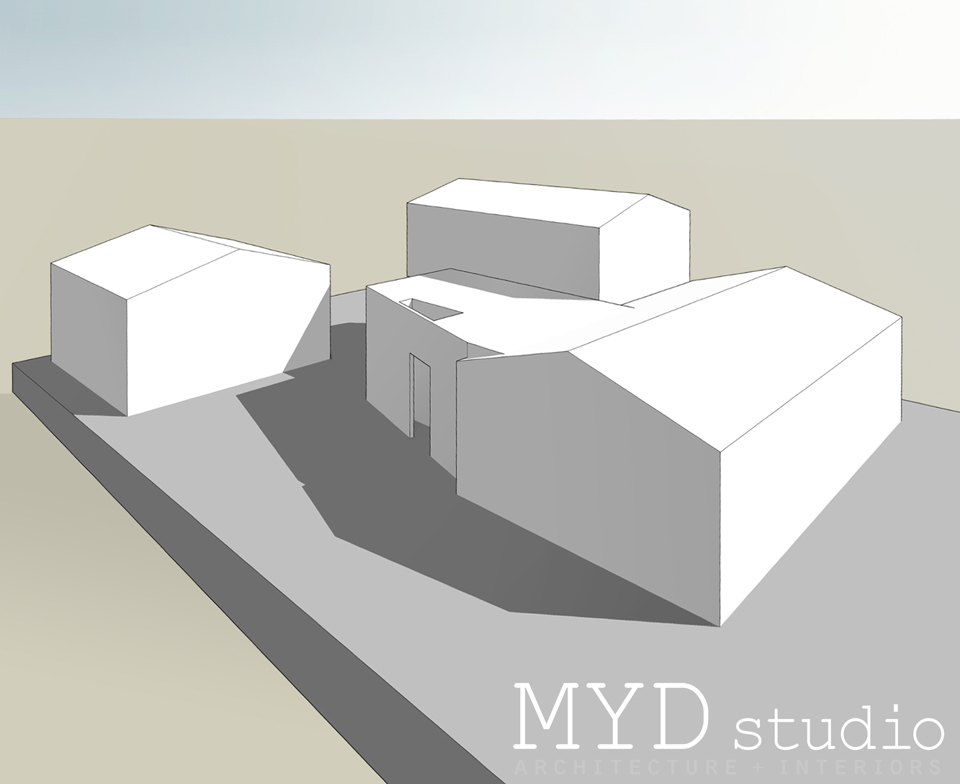 massing study / souheast perspective