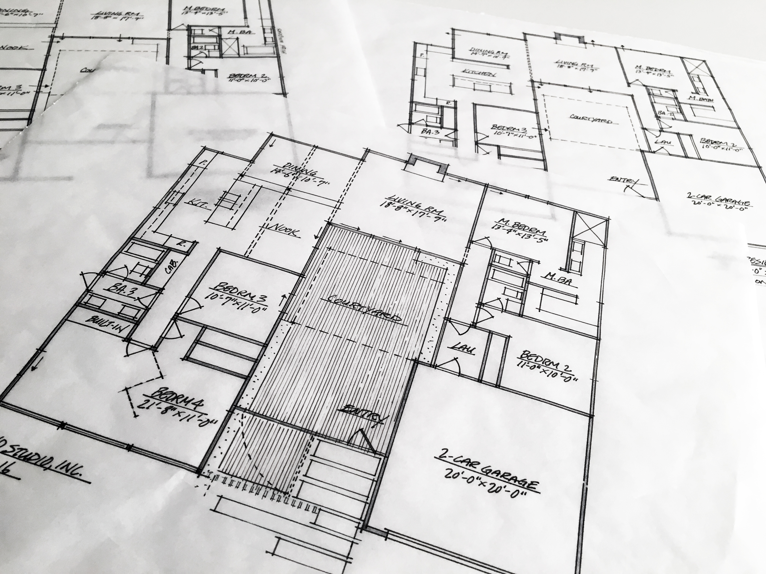 design floor plan iterations