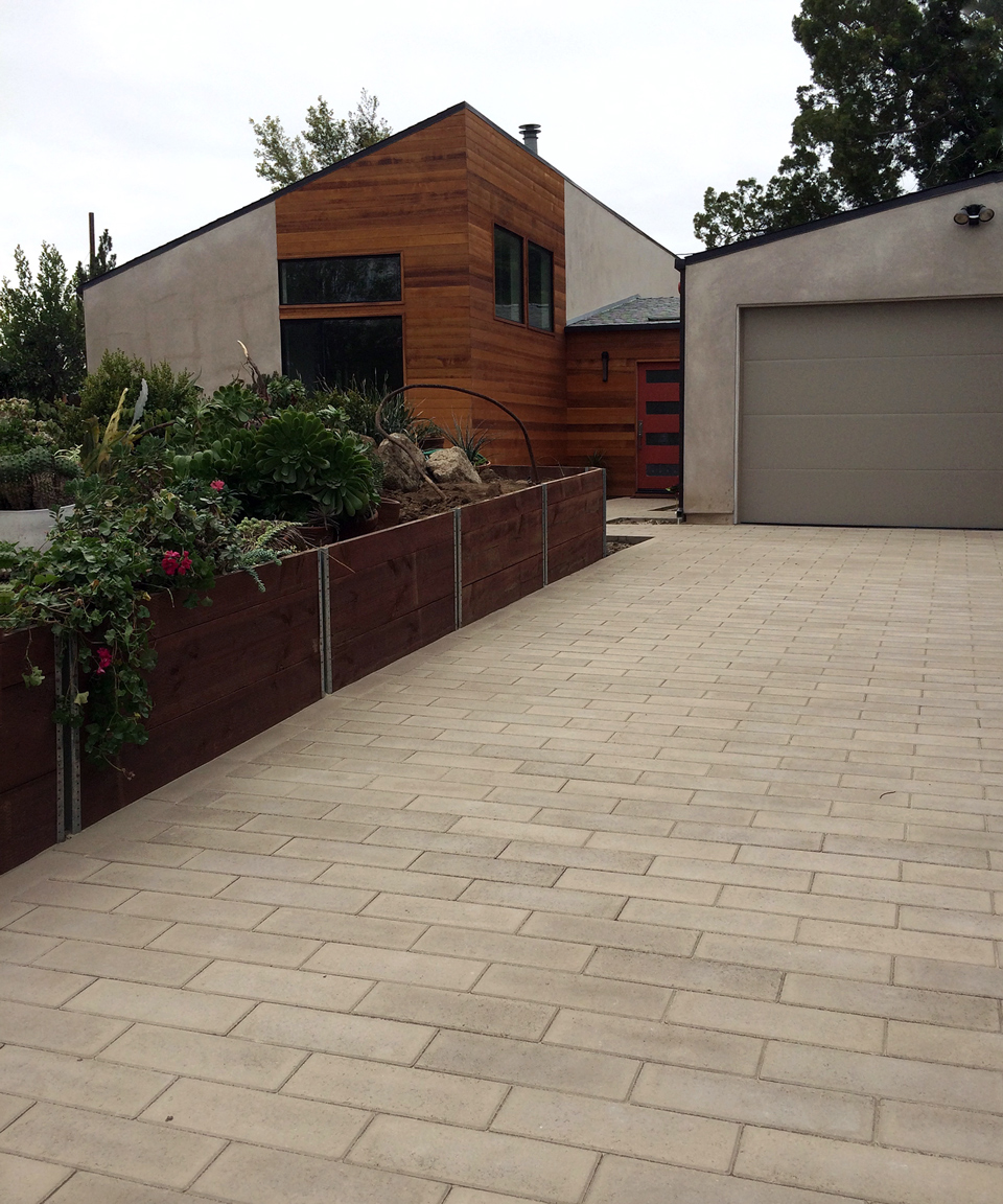 exterior front / modern ranch home, sierra madre ca