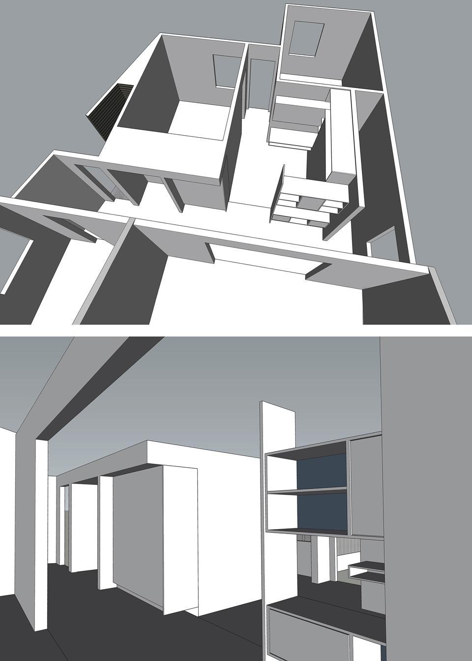 floor plan section // interior perspective