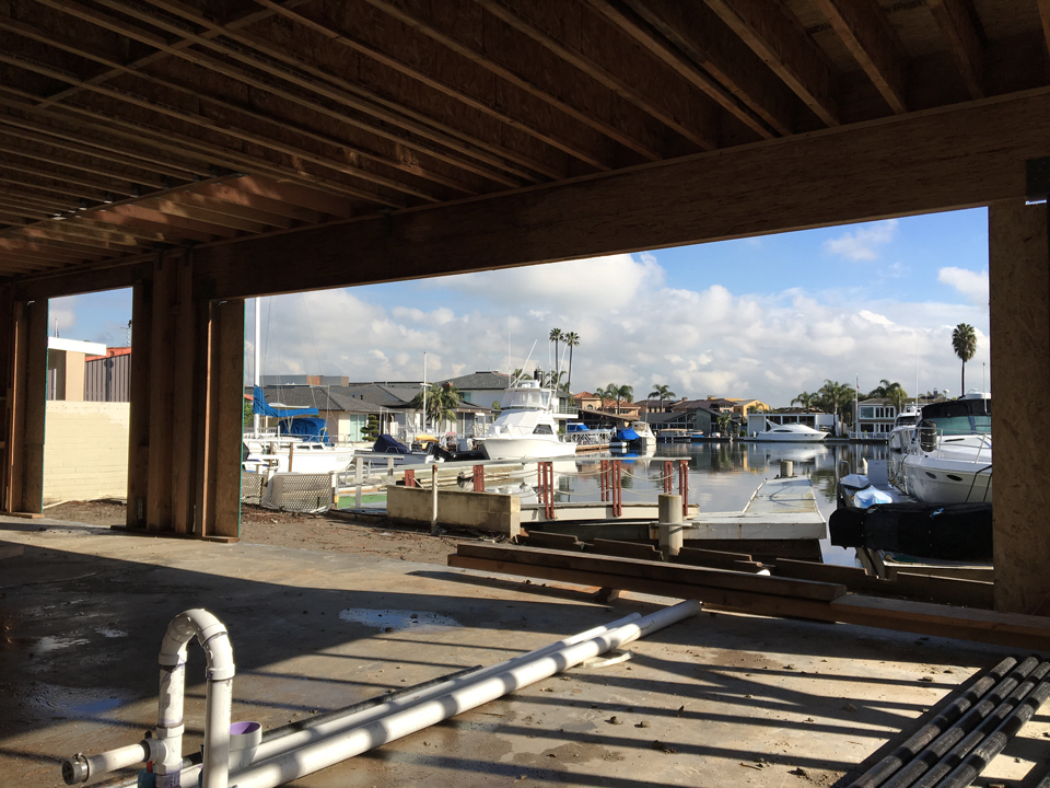 view from kitchen / admiralty island harbor