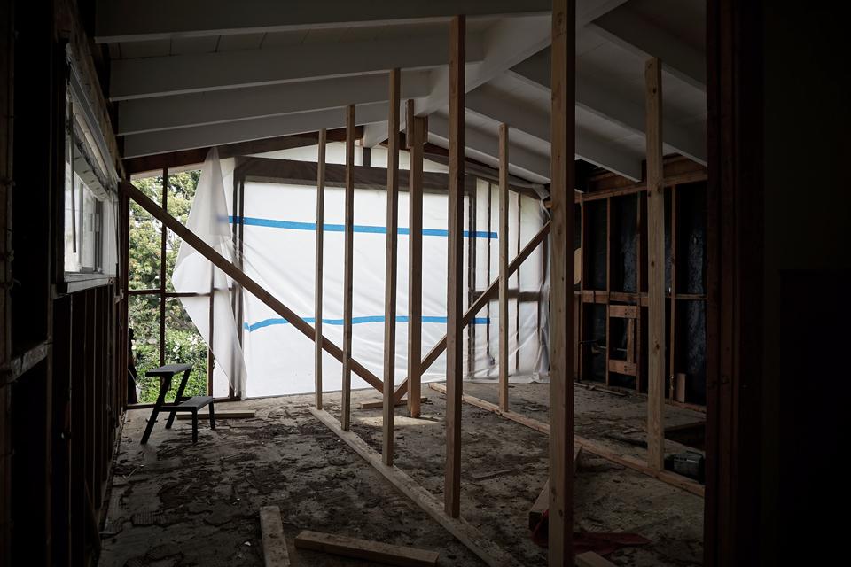 demolition at master bedroom