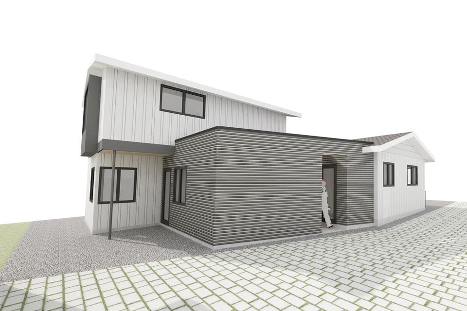design rendering  / dana point modern cottage addition