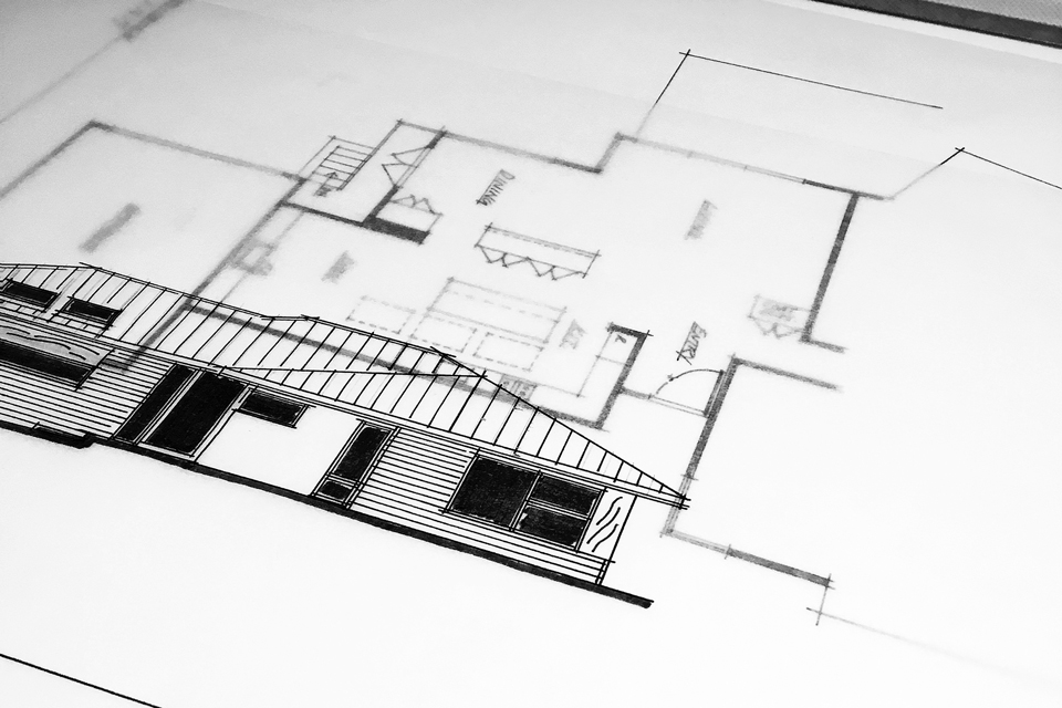modern renovation / schematic design drawings