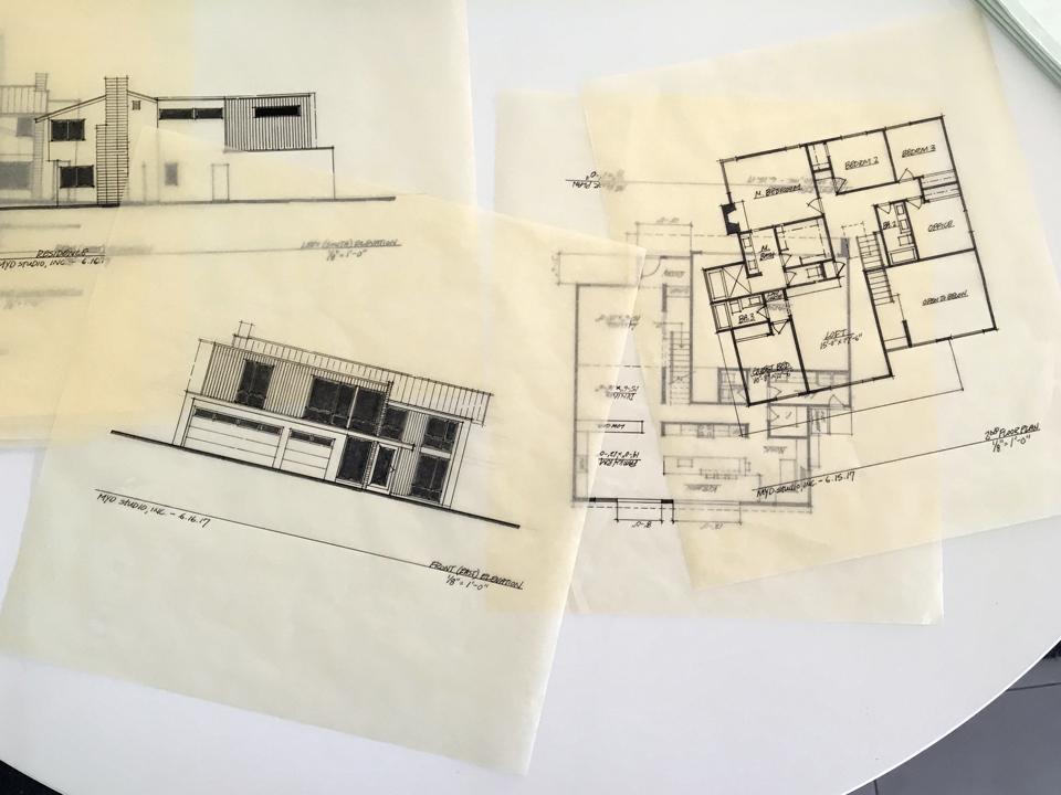 architectural design drawings / modern addition + renovation, hu