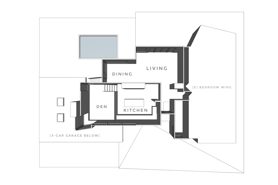 main level floor plan / on the boards