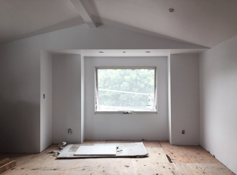 architectural asymmetry / master bedroom window seat views