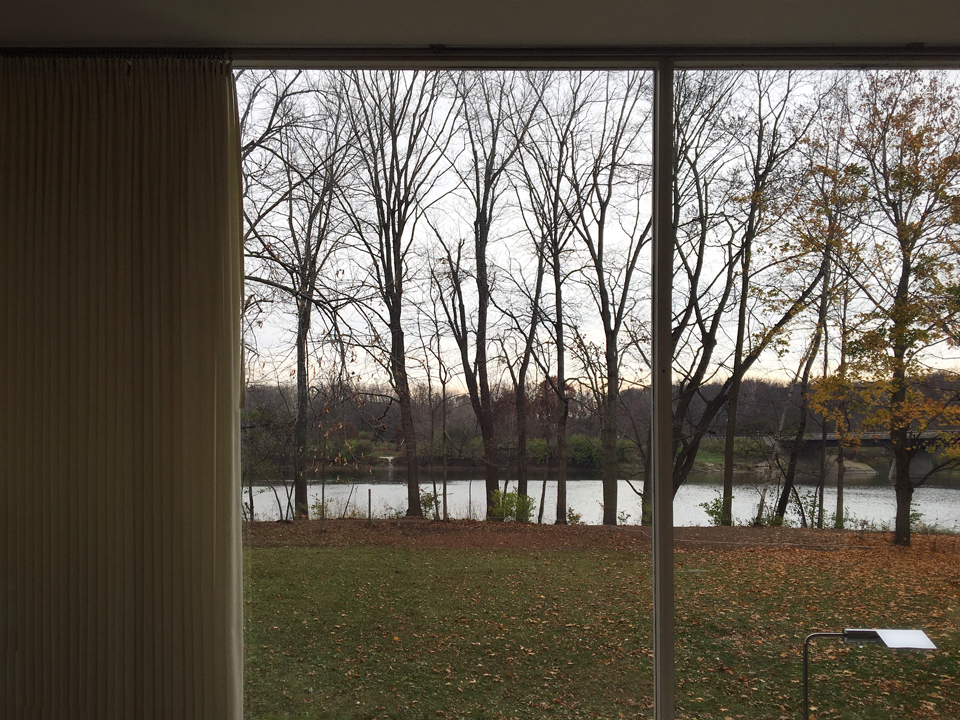 view from living room / farnsworth house, plano illinois