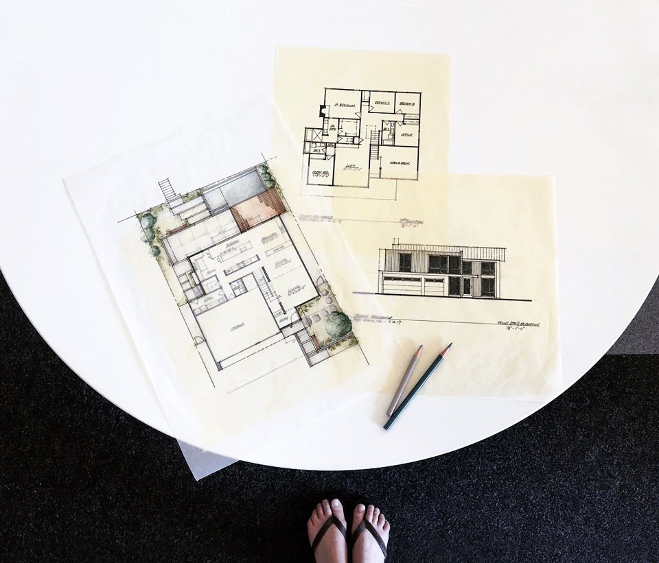 schematic design drawings /  [new] modernism in huntington beach