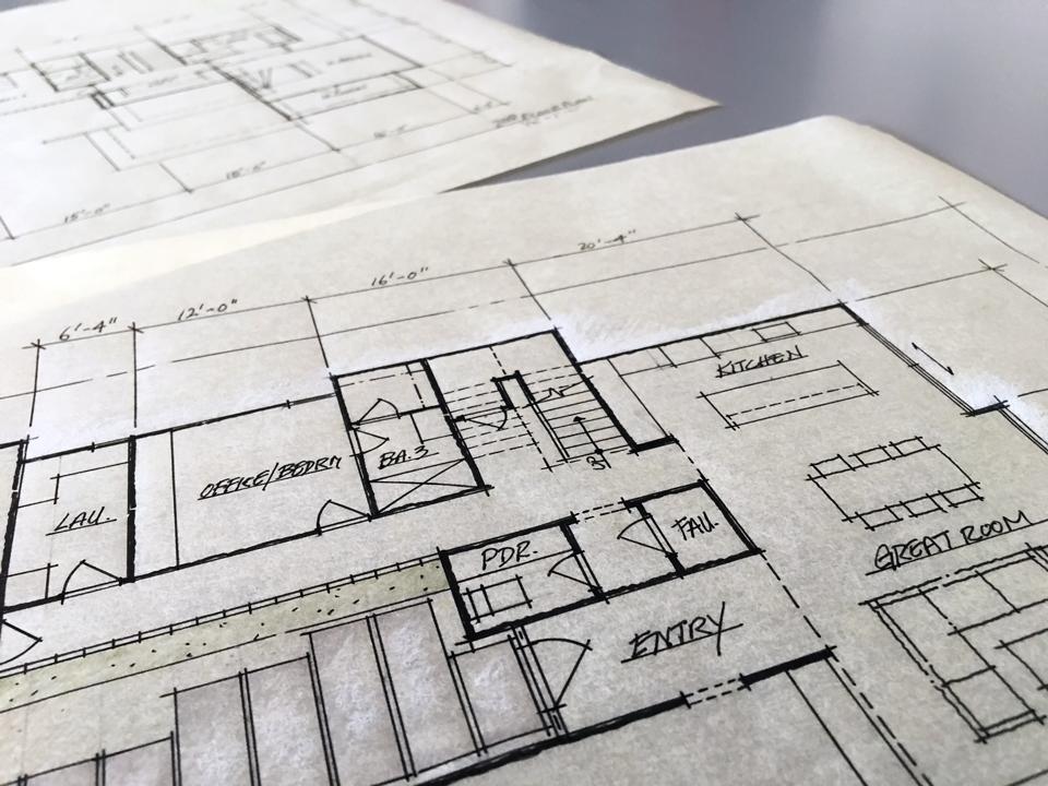 floor plan detail / schematic design, huntington harbour