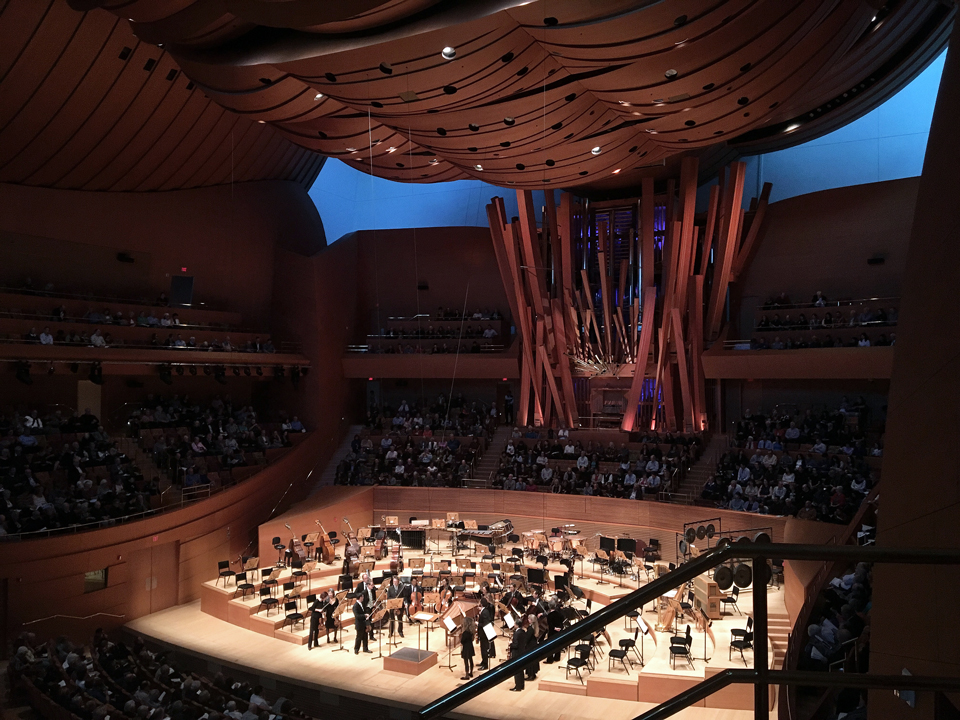 inside the concert hall...