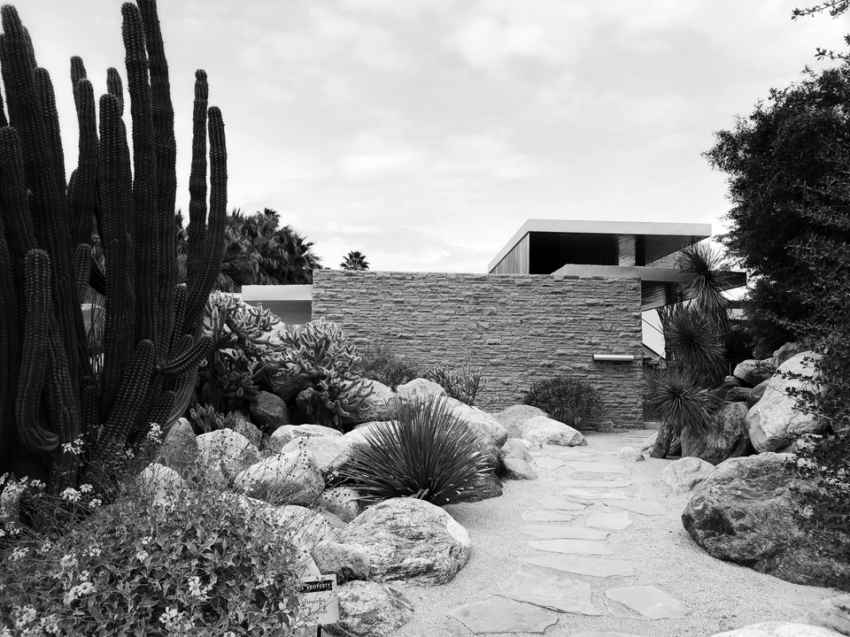 at the kaufmann house by richard neutra, palm springs