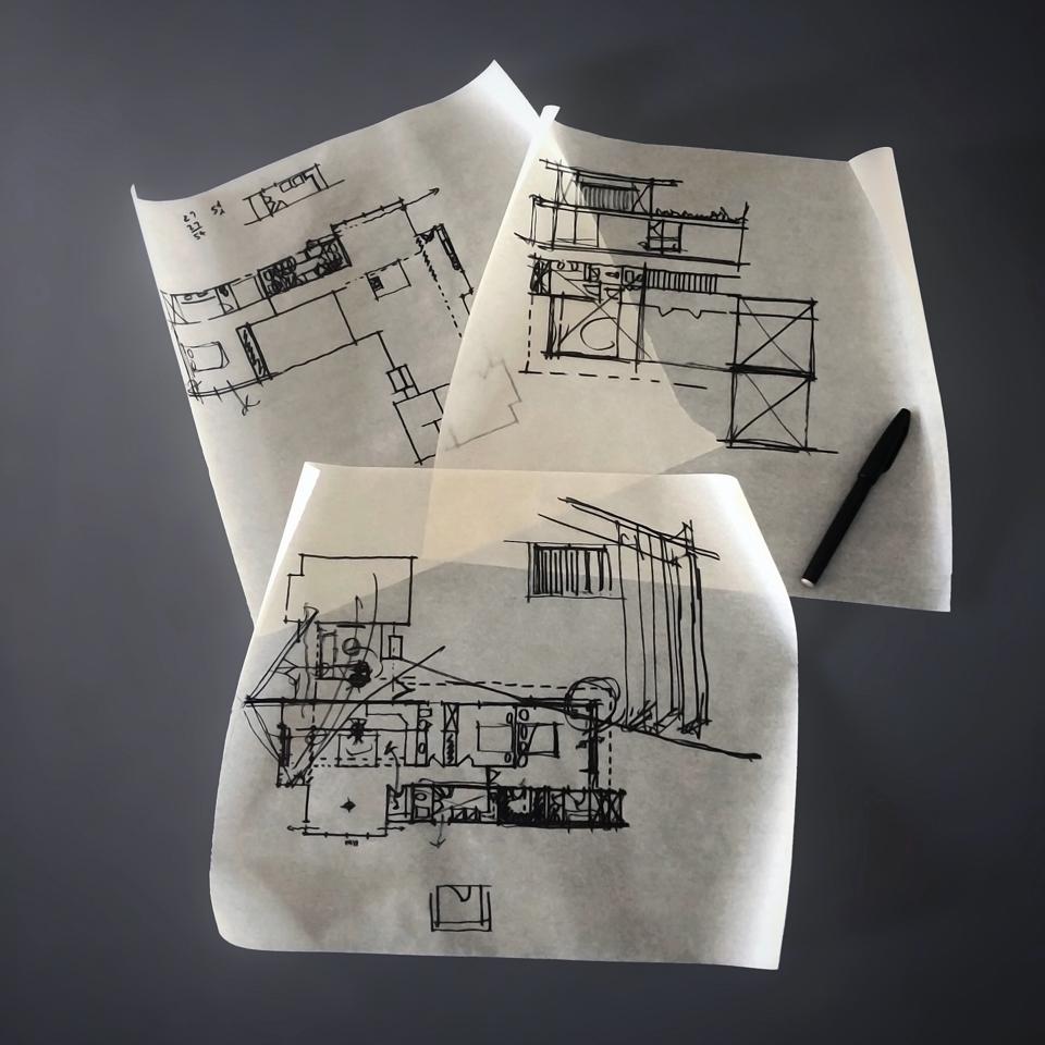floor plan design sketches
