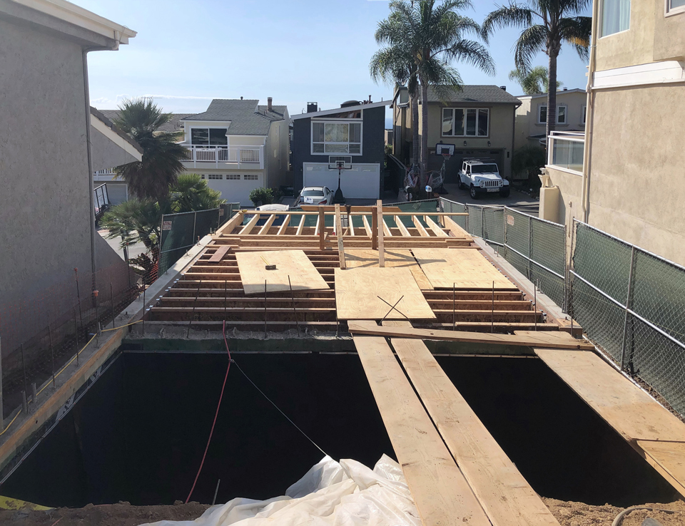 first floor framing / arch beach heights