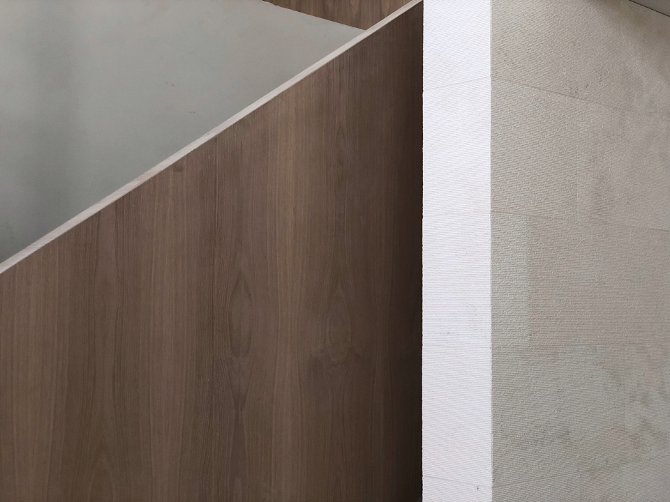 oak + limestone / stair detail
