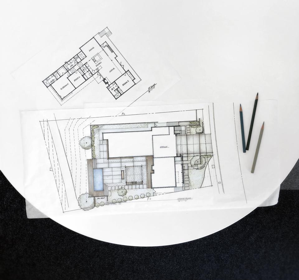 conceptual site + floor plans