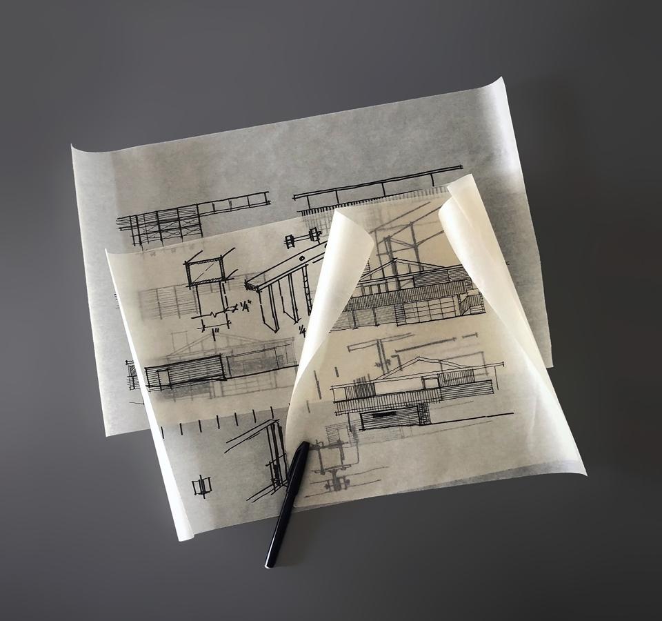 elevation design sketches / niguel west mid-century