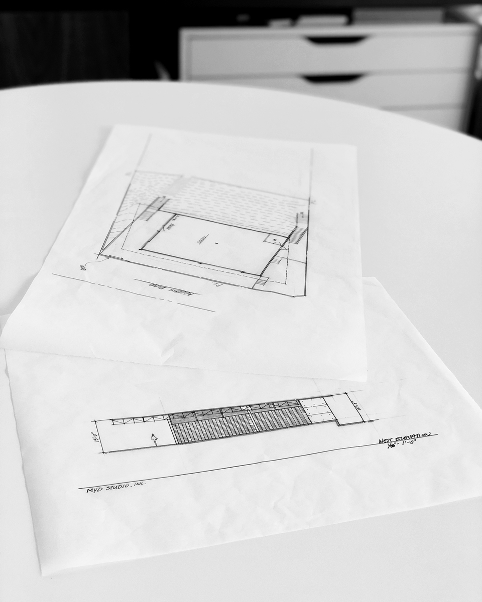 conceptual plan + elevation