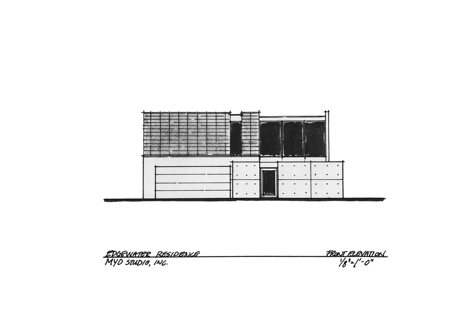 front elevation / edgewater residence, huntington beach