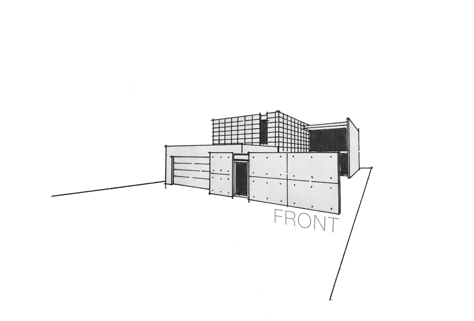 architectural perspective drawing / front exterior